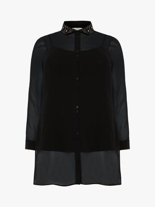 Studio 8 Regan Longline Shirt, Black