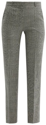 Pallas X Claire Thomson Jonville X Claire Thomson-jonville - Fulham Prince Of Wales Wool Trousers - Womens - Grey Multi