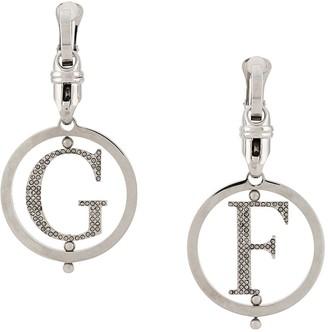Gianfranco Ferré Pre-Owned 2000s Monogram Drop Earrings