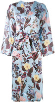Vivetta - floral print trench coat - women - Silk - 38