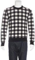 Saint Laurent Wool Check Sweater