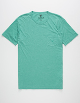 VISSLA Vintage Heather Mens Pocket Tee