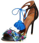 Malone Souliers Gladys Embroidered Tassel Sandal