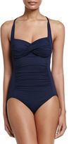 Seafolly Twist Halter One-Piece Swimsuit
