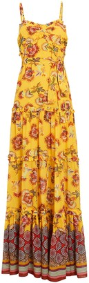 Alexis Lussa Printed Chiffon Maxi Dress