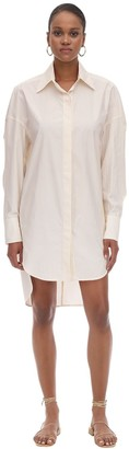 L'Autre Chose Swashed Cotton Shirt Dress