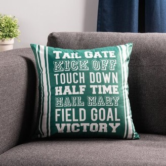 """Sure Fit Football Words 18"""" Throw Pillow"""