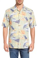 Tommy Bahama 'Tropical Lilies' Regular Fit Silk Camp Shirt