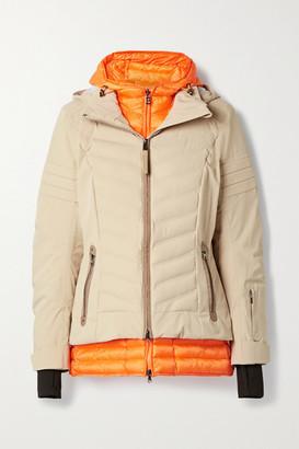 Bogner Rikela Hooded Layered Quilted Ski Jacket - Beige