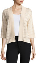 Liz Claiborne Elbow-Sleeve Open-Front Shrug