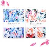 STUDY Nikki strange Floral Marble Bridesmaid Notebook Set