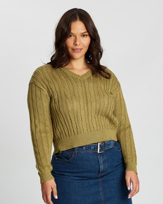 Cotton On Curve Curve Cable Pullover