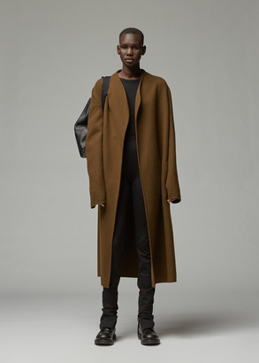 The Row Women's Terin Coat in Army Green Size Small Virgin Wool/Nylon/Cashmere
