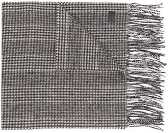 Saint Laurent Check Knit Cashmere Scarf