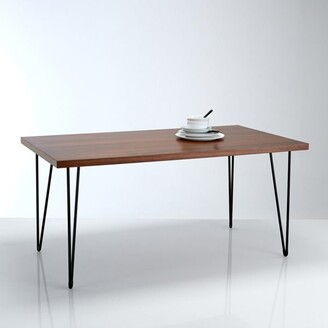 La Redoute Interieurs WATFORD Vintage-Style Walnut Dining Table (Seats 6)