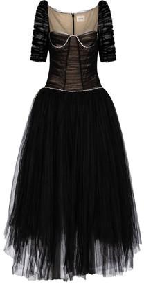 KHAITE Desi crystal-embellished tulle gown