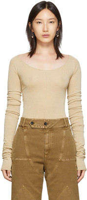 Lemaire Tan Bare Shoulder Second Skin Sweater