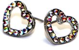 Jewels Fashion Surgical Steel Heart Earrings for Girls (RAINBOW)