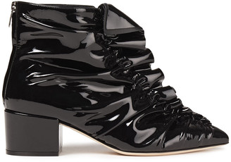 Sergio Rossi Sr Ruffle 45 Patent-leather Ankle Boots