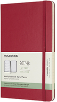 Moleskine 18-Month Large Weekly Academic Diary/Notebook 2017/2018 Planner