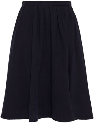 American Vintage Pleated Cotton And Wool-blend Twill Skirt