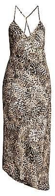 In Bloom Women's Wildest Dreams Satin Animal Print Sleep Gown