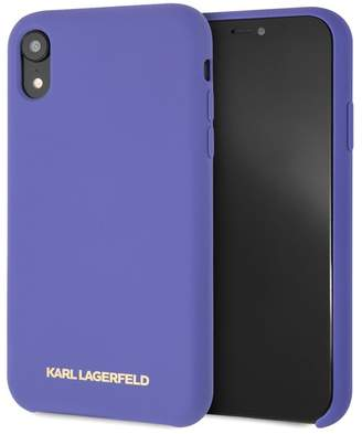 Karl Lagerfeld Paris Violet Silicone Soft Touch iPhone XR Case