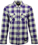 Levi's Men's Minnesota Vikings Plaid Barstow Western Long-Sleeve Shirt