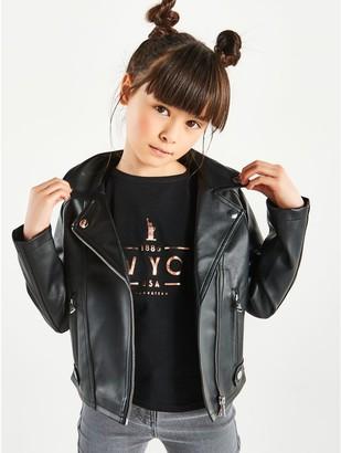 M/&Co Girls Biker Jacker 3Yrs-12Yrs