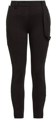 Burberry Willberg High-rise Crepe Trousers - Black