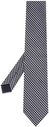 Tom Ford Textured Check Patterned Tie