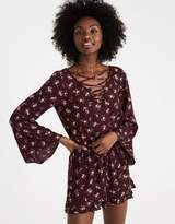American Eagle Outfitters AE Printed Bell Sleeve Romper