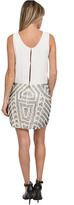 Parker Beaded Gretchen Dress in Creme