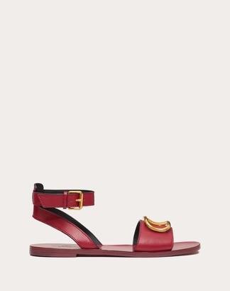 Valentino Vlogo Grainy Cowhide Sandal Women Raspberry Pink 100% Pelle Bovina - Bos Taurus 37