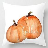 "Acelive® Personalized Pillowcase Couple Pumpkins Pillow Covers Decorative 18"" 18"" Two Sides"