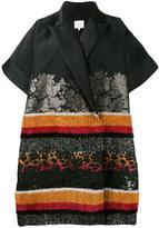 DELPOZO oversize floral detail coat