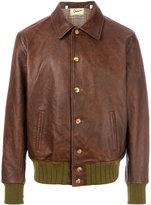 Levi's elasticated waist leather jacket