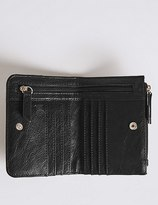 Marks and Spencer Faux Leather Plait Purse with CardsafeTM