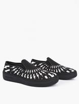 Neil Barrett Black Canvas Slip-On Sneakers