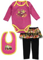 "Apple Bottoms Baby Girls' ""Multiprinted"" 3-Piece Outfit"