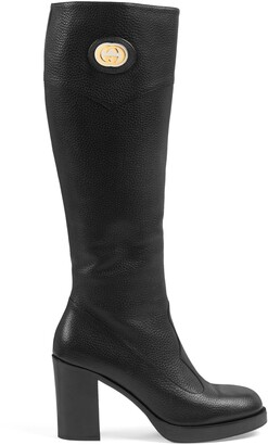 Gucci Women's knee-high boot with Interlocking G
