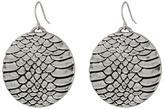 Sam Edelman Snakeskin Snake Disc Drop Earrings