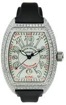 Franck Muller Stainless Steel Conquistador Custom with Diamonds 42mm