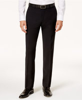 Bar III Men's Slim-Fit Active Stretch Solid Black Suit Pants, Created for Macy's