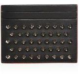 Christian Louboutin Kios Studded Leather Card Case