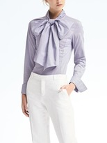 Banana Republic Stripe Bow Shirt