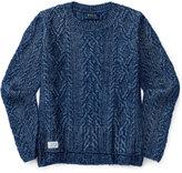 Ralph Lauren Aran-Knit Pullover, Big Girls (7-16)