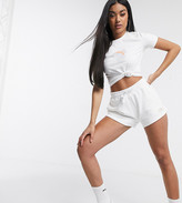 Puma Fleece Shorts in White