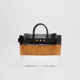 Burberry The Medium Suede and Leather Triple Stud Belt Bag