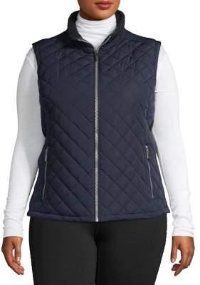 Calvin Klein Plus Diamond-Quilt Puffer Vest